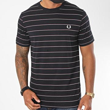Fred Perry - Tee Shirt A Rayures Fine Stripe M8532 Bleu Marine