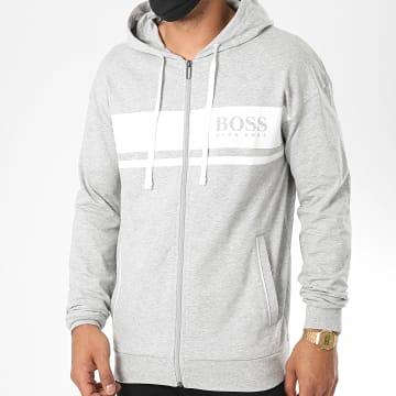 BOSS by Hugo Boss - Sweat Zippé Capuche Authentic 50431084 Gris Chiné