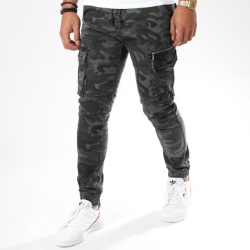 John H - Jogger Pant Camouflage XQ02 Gris Anthracite