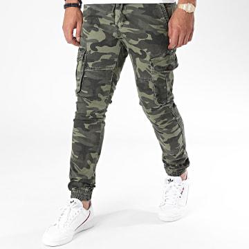 John H - Jogger Pant Camouflage XQ03 Vert Kaki