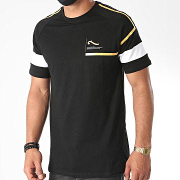 La Piraterie - Tee Shirt Black Sam Noir Doré Blanc