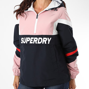 Superdry - Veste Outdoor Femme Colour Block W5010245A Bleu Marine Rose