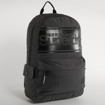Superdry - Sac A Dos Logo Montana Gris Chiné