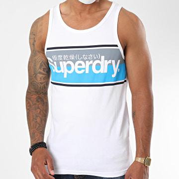 Superdry - Débardeur Core Logo Stripe M6010140A Blanc