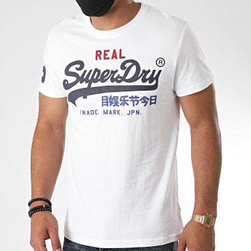 Superdry - Tee Shirt Vintage Logo Tri M10036NS Blanc