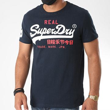 Superdry - Tee Shirt Vintage Logo Tri M10036NS Bleu Marine