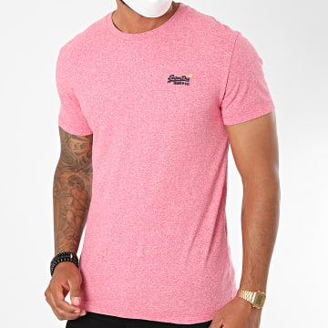 Superdry - Tee Shirt OL Vintage Embroidery M1010119A Rose Chiné