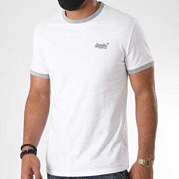 Superdry - Tee Shirt OL Ringer M1010153A Blanc