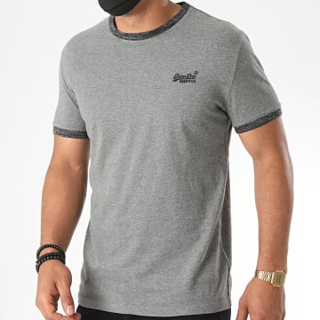 Superdry - Tee Shirt OL Ringer M1010153A Gris Chiné