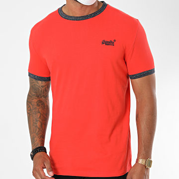 Superdry - Tee Shirt OL Ringer M1010153A Rouge