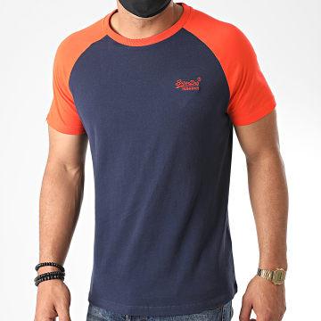 Superdry - Tee Shirt OL Baseball M1010179A Bleu Marine Orange