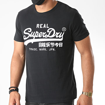 Superdry - Tee Shirt VL Mono Embroidery M1010303A Noir