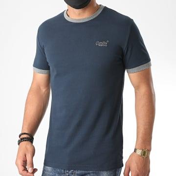 Superdry - Tee Shirt OL Ringer M1010153A Bleu Marine