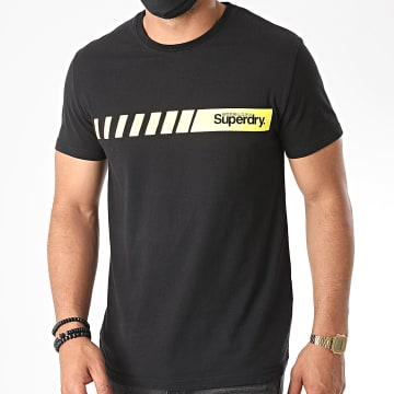 Superdry - Tee Shirt Core Logo Sport Stripe M1010168A Noir