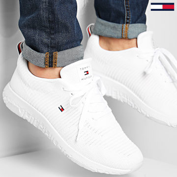 Tommy Hilfiger - Baskets Corporate Knit Rib Runner FM0FM02938 White
