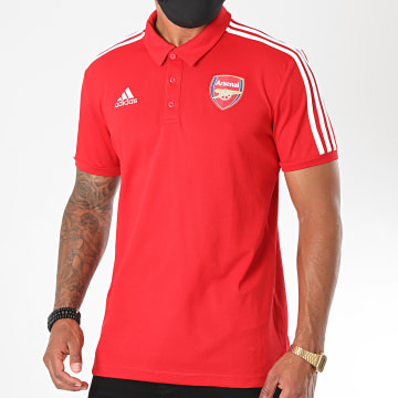 Adidas Performance - Polo Manches Courtes A Bandes Arsenal FC FQ6936 Rouge