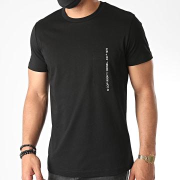 Diesel - Tee Shirt Poche Rubin J1 00SASJ-0AAXJ Noir