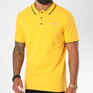 Guess - Polo Manches Courtes M0YP60 Jaune Moutarde