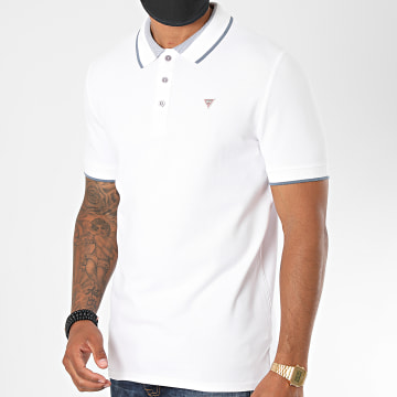 Guess - Polo Manches Courtes M0YP60 Blanc