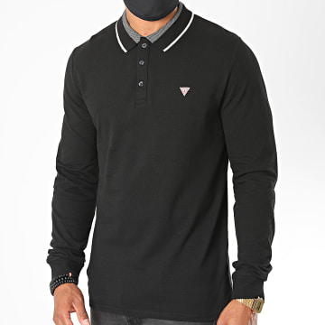 Guess - Polo Manches Longues M0YP58 Noir