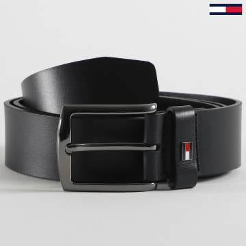 Tommy Hilfiger - Ceinture Denton Leather 6322 Gris Anthracite