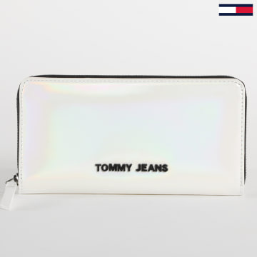 Tommy Jeans - Portefeuille Femme 8925 Blanc Iridescent