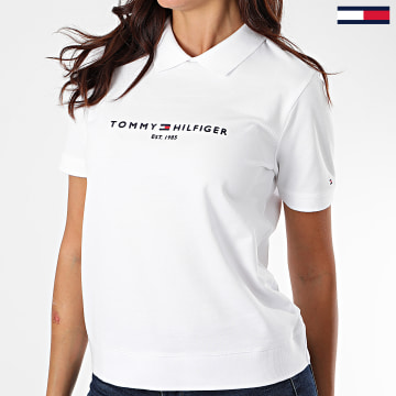 Tommy Hilfiger - Polo Manches Courtes Femme Essential 6702 Blanc