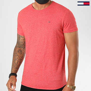Tommy Jeans - Tee Shirt Essential Jaspe 4792 Rouge Chiné
