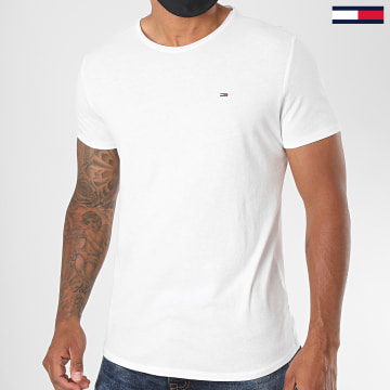 Tommy Jeans - Tee Shirt Essential Jaspe 4792 Blanc