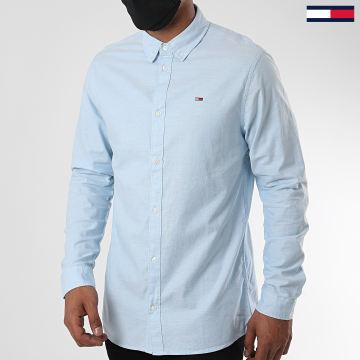 Tommy Jeans - Chemise Manches Longues Stretch Oxford 6562 Bleu Ciel