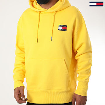 Tommy Jeans - Sweat Capuche Tommy Badge 6593 Jaune