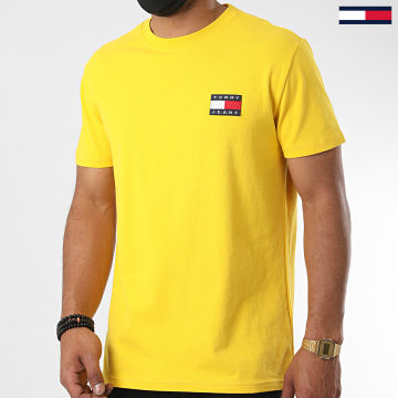 Tommy Jeans - Tee Shirt Tommy Badge 6595 Jaune