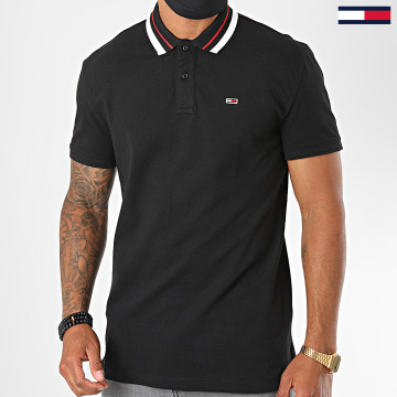 Tommy Jeans - Polo Manches Courtes Classics Tipped 7195 Noir