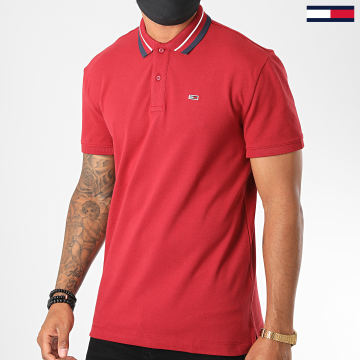 Tommy Jeans - Polo Manches Courtes Classics Tipped 7195 Rouge