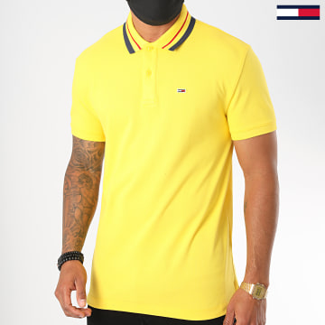 Tommy Jeans - Polo Manches Courtes Classics Tipped 7195 Jaune
