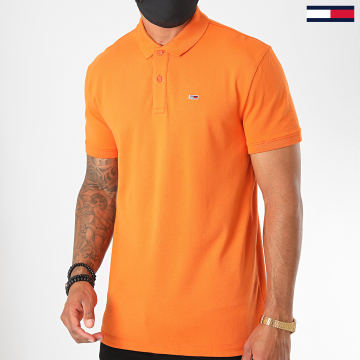 Tommy Jeans - Polo Manches Courtes Classics Solid 7196 Orange