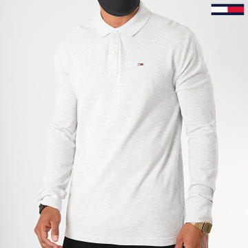 Tommy Jeans - Polo Manches Longues Classics 7457 Gris Chiné