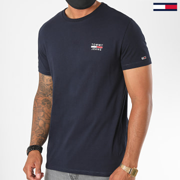Tommy Jeans - Tee Shirt Chest Logo 7472 Bleu Marine