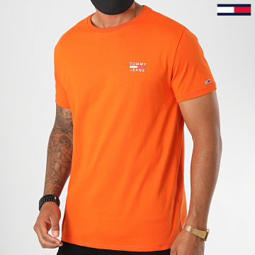 Tommy Jeans - Tee Shirt Chest Logo 7472 Orange