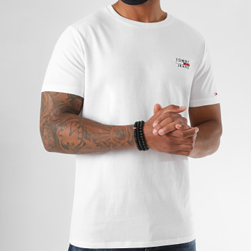 Tommy Jeans - Tee Shirt Chest Logo 7472 Blanc