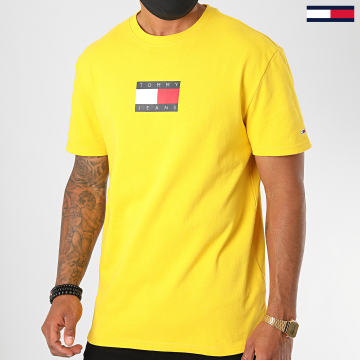 Tommy Jeans - Tee Shirt Small Flag 8351 Jaune