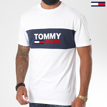 Tommy Jeans - Tee Shirt Pieced Band 8360 Blanc