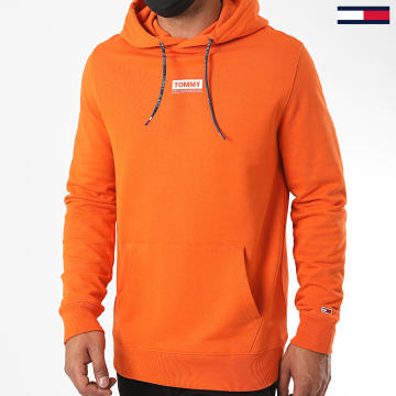 Tommy Jeans - Sweat Capuche Essential Graphic 8406 Orange