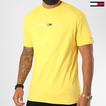 Tommy Jeans - Tee Shirt Straight Logo 8472 Jaune