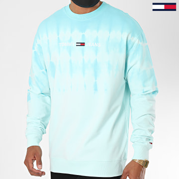 Tommy Jeans - Sweat Crewneck Tie Dye 8473 Bleu Clair