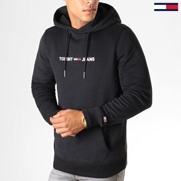 Tommy Jeans - Sweat Capuche Straight Logo 8474 Noir