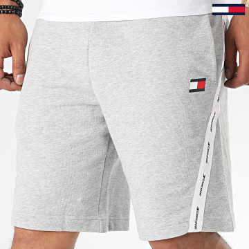 Tommy Sport - Short Jogging A Bandes Fleece Tape 0369 Gris Chiné