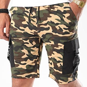 Zayne Paris  - Short Jogging Camouflage TX-521 Beige Vert Kaki