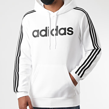 adidas - Sweat Capuche A Bandes FI0806 Blanc