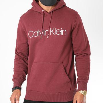 Calvin Klein - Sweat Capuche Cotton Logo 3664 Bordeaux